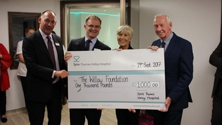 Football legend opens Spire Thames Valley's new MRI and imaging department