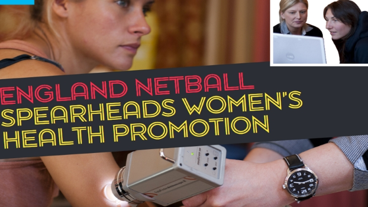 England Netball spearheads women's health promotion