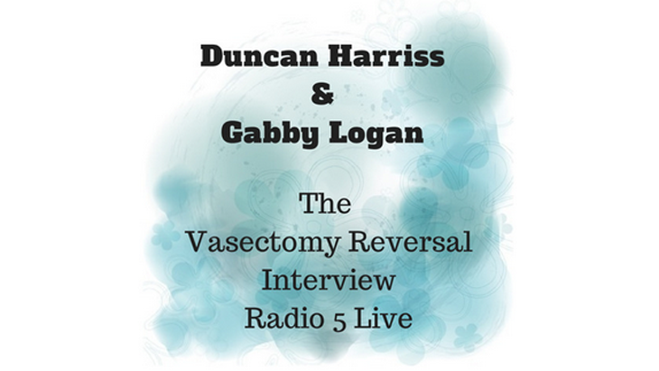 BBC Radio interviews vasectomy reversal expert Duncan Harriss