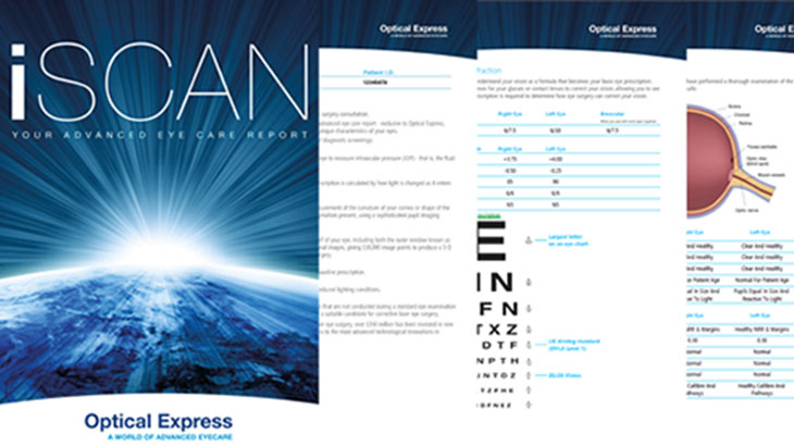 iScan advanced eye care report