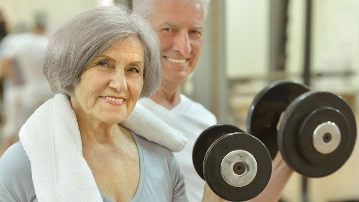 Elderly keeping fit